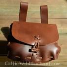 Bolsa marrón, 18 x 14 x 6 cm