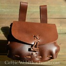 Brown bag, 18 x 14 x 6 cm