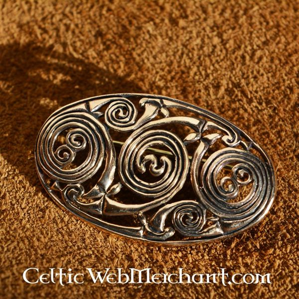 Pictish brooch with spirals