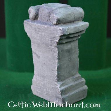 Columna per altare di casa romano