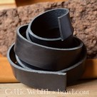 Leather belt 30 mm / 180-190 cm black