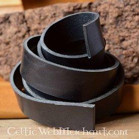 Læder bælte 30 mm / 180-190 cm sort
