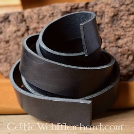 Leather belt 30 mm / 180-190 cm black