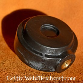 Red dragon Wheel Pommel- Black