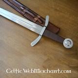 Espada medieval cruzado, listos para la batalla