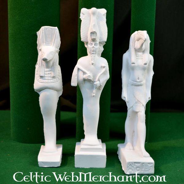 Egyptian famille de Dieu: Isis, Anubis et Osiris