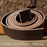 Leather belt strip brown 4 x 180-190 cm