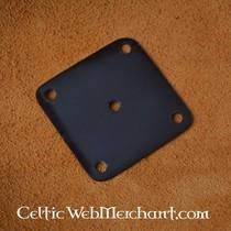Black wax plates set of 10