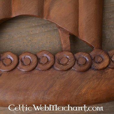 Drakkar vikingo de madera