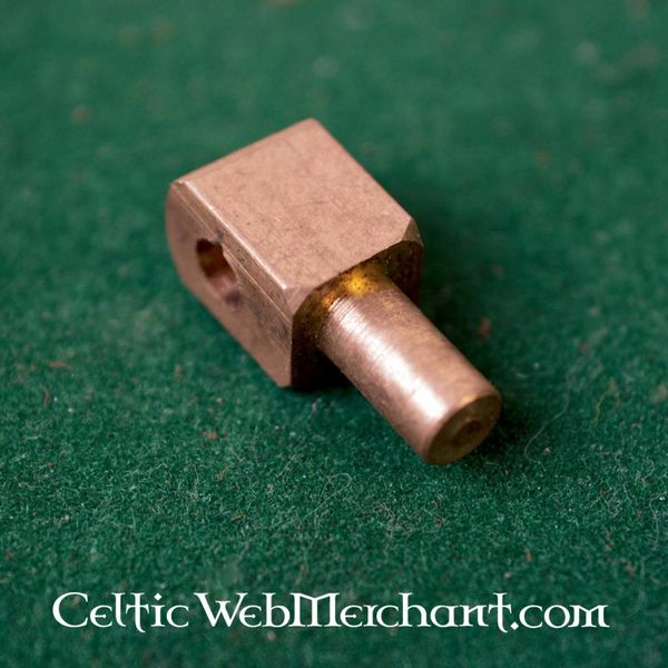 Vervelles, brass pins for bascinet helmets and armour, set of 12
