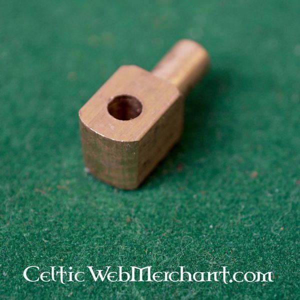 Vervelles, kołki mosiężne do hełmów przyłbica i zbroi, zestaw 12