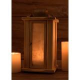 Lanterne en bois avec des fenêtres de parchemin