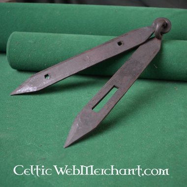 Garnitures de coffres Viking (2 charnières & 1 moraillon)