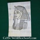 Papyrus Coloring plate death mask Tut Ankh Amon