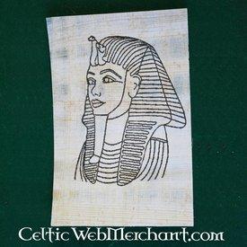 Papiro colorear Tutanchamon máscara muerta