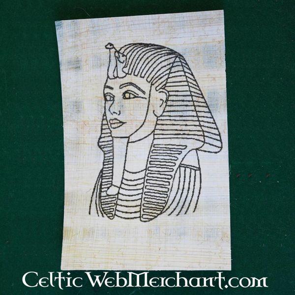 Papyruskleurplaat dodemasker Tutanchamon
