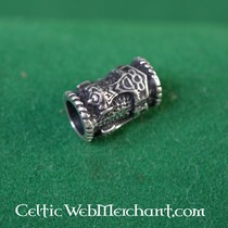Silver beard bead with Thor's hammer