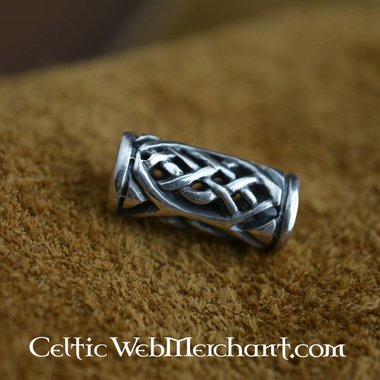 Celtic beard bead silver