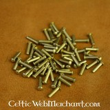 100 brass rivets 10 mm