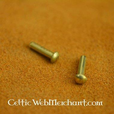 100 brass rivets 10 mm