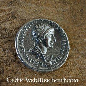 Denario de Cleopatra y Marco Antonio