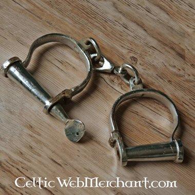Iron medieval handcuffs