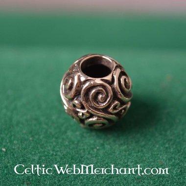Bronze round beard bead
