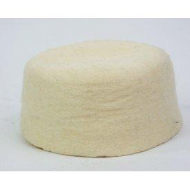 siglo 15 sombrero de fieltro Durero, blanco