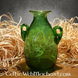 Roman glass Amphora green