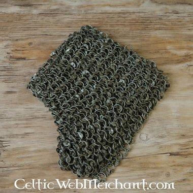 Protezione delle spalle in cotta di maglia, anelli rotondi - rivetti rotondi, 8 mm