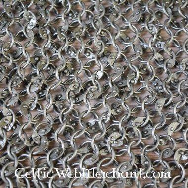 Maliën schouderstuk, onbehandeld, ronde ringen - ronde klinknagels, 8 mm