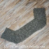 Ulfberth Protezione delle spalle in cotta di maglia, anelli piatti-rivetti rotondi, 8 mm