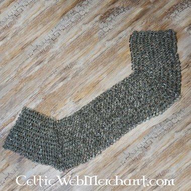 Protezione delle spalle in cotta di maglia, anelli piatti-rivetti rotondi, 8 mm
