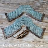 sabatons cotta di maglia, zincato, 8 mm