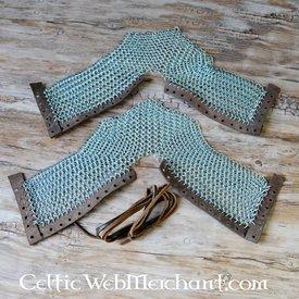Ulfberth sabatons cotta di maglia, zincato, 8 mm