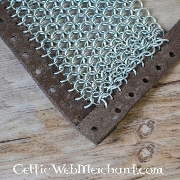 Ulfberth Chain mail sabatons, zinc-plated, 8 mm