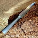 Punta de lanza germánica, acero damasco