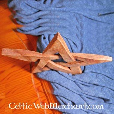 Pentagrama en madera