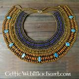 Egyptische ketting Nefertiti blauw