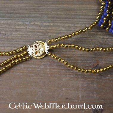 Egyptian necklace Nefertiti blue
