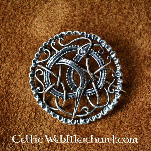 Zilveren Urnesstijl Vikingbroche