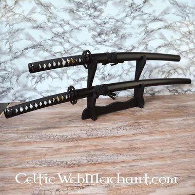 Katana nera e wakizashi