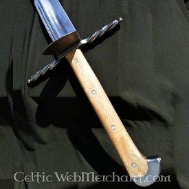 Grosses Messer avec garde en forme de coquille