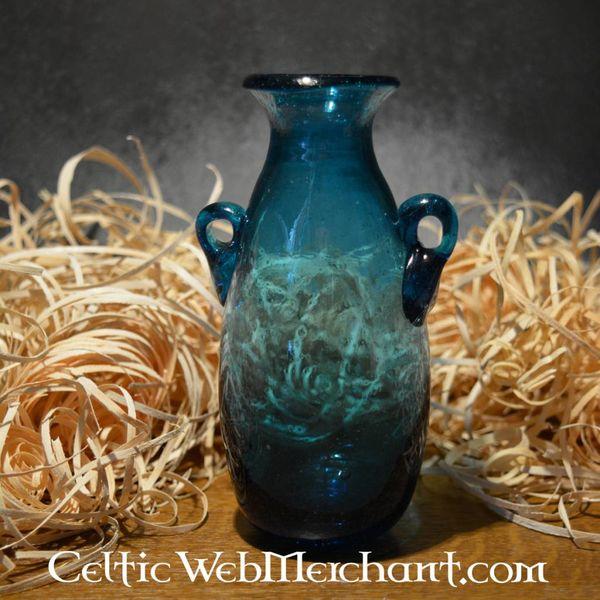 Romeinse glazen Amphora turkoois