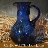 cruche verre coulée romaine, bleu