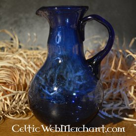 Roman glass pouring jug, blue