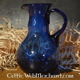 Romerske glas hælde en kande, blå