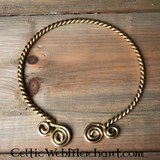Torque with Celtic spirals