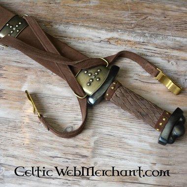Epée Viking Godfred, acier de Damas