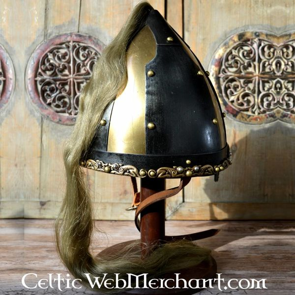 Rusvik casque avec crin de cheval
